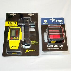 Adirpro Cube 360 Laser And Universal Rotary Laser Level Receiver Detector Ld 8