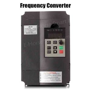 Frequency Converter Vfd 1 5kw 2 2kw 4kw 3p 220v Output Cnc Spindle Motor Speeds