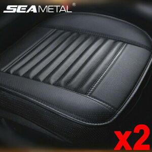 2x Full Surround Front Car Seat Cover Pu Leather Pad Mat Chair Cushion Protector