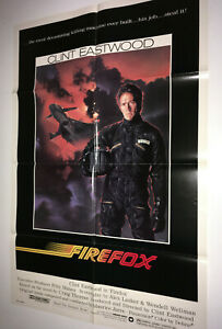 Firefox Vintage Movie Poster 1982 Clint Eastwood Cold War Jet Airplane Pilot