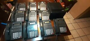 Nec Dsx 80 Key Telephone Sys all Cables Wires W 10 Bds 22btn Phone Stations