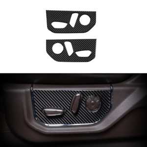 Real Carbon Fiber Electric Seat Adjustment Panel Trim Cover For Ford F150 2015