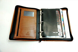 New Day Runner Classic Edition Napa Brown Leather Organizer 8 X 10 Unused