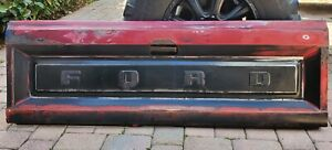 Ford F100 Oem Factory Tailgate Patina Vintage Rat Rod Wall Art