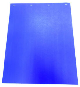 Blue Mud Flaps 24 x 30 Poly pair Heavy Duty Poly
