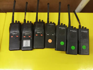 Lot Of 7 Motorola Radius Radios For Parts repair P1225 Gp300 Sp50