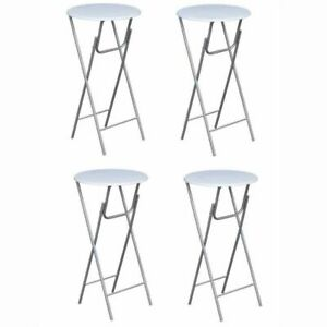 Vidaxl Set Of 4 Folding Bar Tables Foldable Home Restaurant Round 23 6 x44