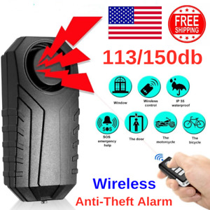 150db Wireless Anti theft Vibration Motorcycle Bicycle Security Bike Alarm Tool