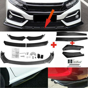 Carbon Fiber Side Skirt Rear Lip Front Bumper Spoiler Body Kit For Honda Civic
