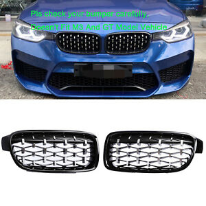 Front Kidney Grill Grille Chrome Black Diamond For Bmw F30 F31 3 series 12 17