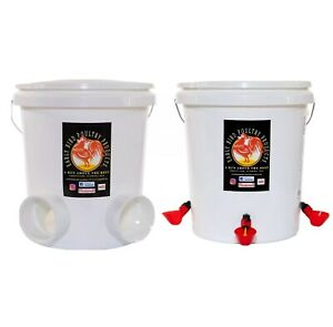 Automatic Poultry Waterer And Feeder Combo