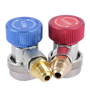 2psc R1234yf Quick Connector Coupler Adapter Auto A C High Low Manifold Gauge