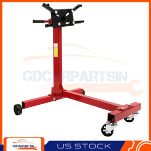 New Red Engine Stand 1000 Lbs Capacity 360 Degree Head Motor Support Jack Stand