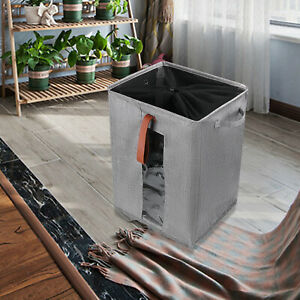 Bin Foldable Rolling Wheels Laundry Hamper Clothes Basket With Mesh Covers Usa