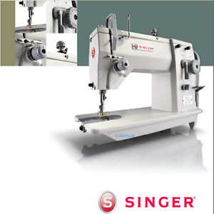 Singer 20u83 Zig zag Industrial Sewing Machine With Table And Servo Motor