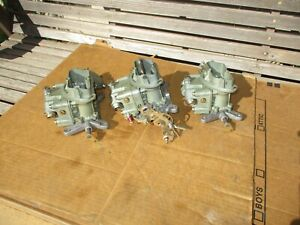 1967 Chevy 3x2 Corvette 3659 3660 Tri Power Holley Carbs Carburetors 427 400 435