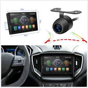 Single Din 9in Car Mp5 Player Stereo Radio Touch Screen W Dynamic Track Camera