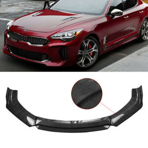 Carbon Fiber Front Bumper Lip Body Kit Spoiler Splitter For Kia Stinger Forte
