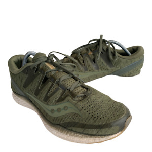 Saucony Freedom Iso 2 Mens Size 11 Green Athletic Running Walking Shoes Sneaker