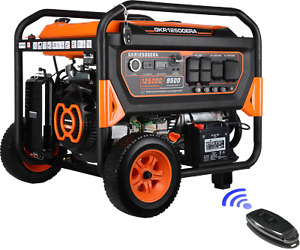 Genkins Gkj12500e 12500 Watt Portable Generator Electric Start Remote Control