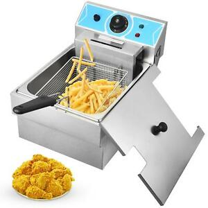 2000w 8l Electric Deep Fryer Stainless Steel Cooking Machine Commercial Basket