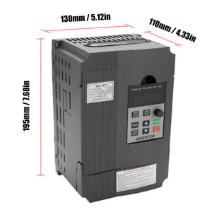 2 2kw Variable Frequency Drive 220v 12a Single To 3 Phase Vfd Inverter Us W5y3