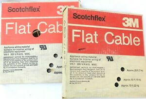 Lot Of 2 3m Scotchflex 3365 20 conductor Flat Ribbon Cable 28 Awg 100 Roll