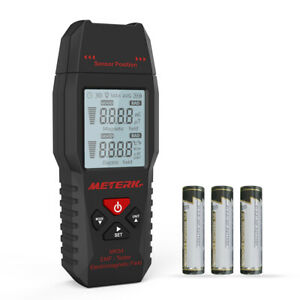 2in1 Electric magnetic Electromagnetic Field Radiation Detector Emf Tester W2c5