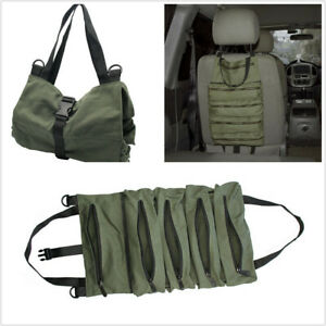 Roll Tool Storage Bag Wrench Roll Pouch Hanging Carrier Oxford Cloth Army Green