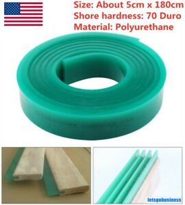 6 Ft 5x180cm 70 Duro Durometer Silk Screen Printing Squeegee Rubber Blade Roll