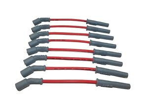 Msd Spark Plug Wires Spiral Core 8 5mm Red Boots Chevy Gmc 4 8 5 3 6 0l 32829