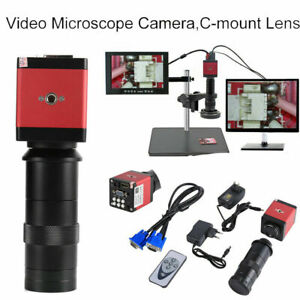Hd Hdmi Vga Usb Video Digital Industrial Microscope Camera C cs Lens Interface