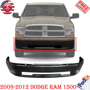 Front Bumper Primed Steel W o Fender Flare Holes For 2009 2012 Dodge Ram 1500