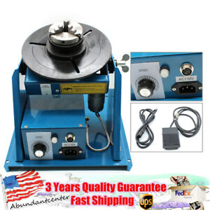 Rotary Welding Positioner Turntable Table With 2 5 3 Jaw Lathe Chuck 2 10r min