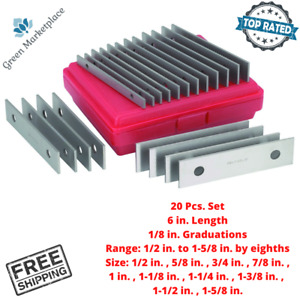 Pittsburgh Parallel Bars Set 1 8 Thick For Machinist Machining Work 20 Pieces