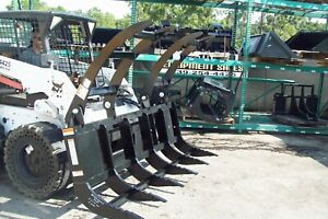Skid Steer Extreme Duty 84 Brush Rake Grapple By Site Pro 925 Lbs 6 Tines in Fl