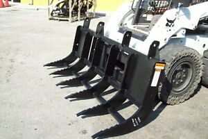 Skid Steer Extreme Duty 84 Brush Rake By Site Pro 6 Tines Universal Fit