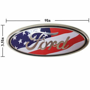 9 Inch For Ford F150 American Flag Grille Rear Tailgate Emblem Ranger Edge L