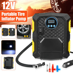 Tire Inflator Pump Car Heavy Duty Air Compressor Electric Portable Auto 150psi