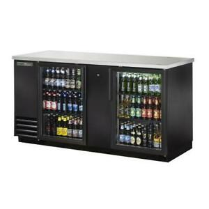 True Tbb 3g hc ld 69 In Back Bar Cooler W 2 Glass Swing Doors