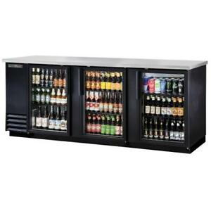 True Tbb 4g hc ld 90 In Back Bar Cooler W 3 Glass Swing Doors