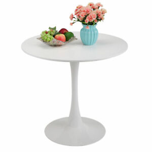 Jaxpety 31 5 Mid Century White Elegant Round Tulip Dining Table Furniture
