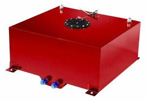 20 Gallon Red Coated Aluminum Racing drifting Fuel Cell Gas Tank level Sender