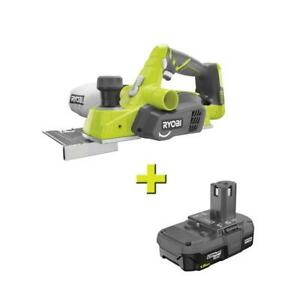 18 volt One Cordless 3 1 4 In Planer With 1 5 Ah Compact Lithium ion Battery