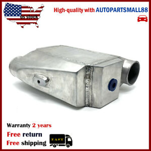 Universal Water To Air Intercooler Liquid Aluminum In out 3 Core 10 x4 5 x4 5