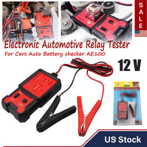 Electronic Automotive Relay Tester 12v For Universal Cars Auto Battery Checker
