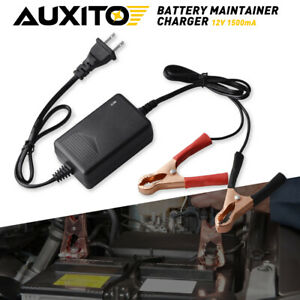 Car Atv Rv Boat Motorcycle Battery Maintainer Charger 12v Portable Auto Trickle