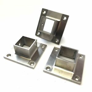 Lot Of 3 Stainless Steel Ss Narrow Flange For 1 5 Square Tubing Pipe Extrusion