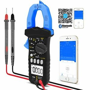 Trms 6000 Counts Digital Clamp Meter With Bluetooth For Ac Dc Amp Volt Ohm Test