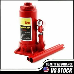 8 Ton Hydraulic Low Profile Bottle Jack Lift Heavy Duty Automotive Car Truck
